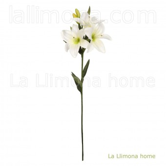 Flor lilium artificial blanco 70 · Flores artificiales 3