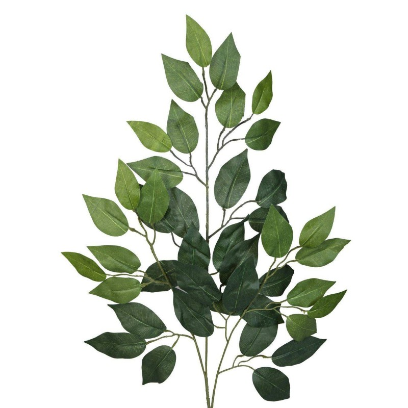 Rama artificial hojas ficus verdes 62 for Ficus planta interior