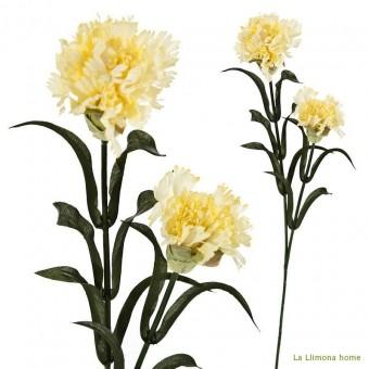 Flor clavel artificial amarillos hojas 52 · Flores artificiales 2 · La Llimona home