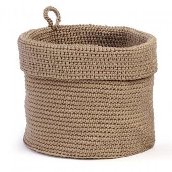 Panera baño saco beig redonda grande