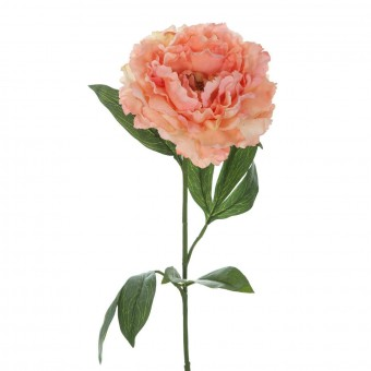 Flor peonia artificial salmón · Flores artificiales