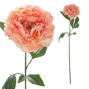 Flor peonia artificial salmón · Flores artificiales 2