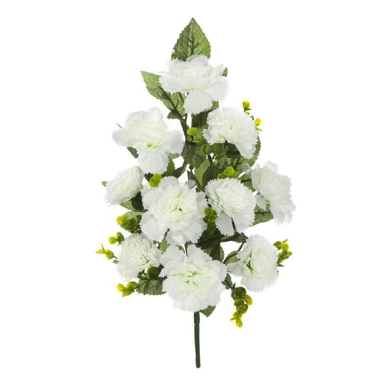 Ramo flores artificiales claveles blancos · Ramos artificiales cementerios y jardineras Todos los Santos