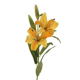 Flor lilium artificial amarillo 80 · Flores artificiales