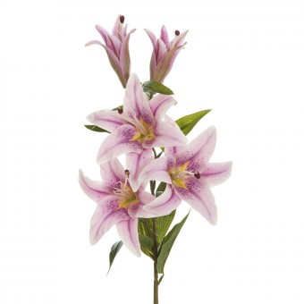Flor lilium artificial malva 99 · Flores artificiales