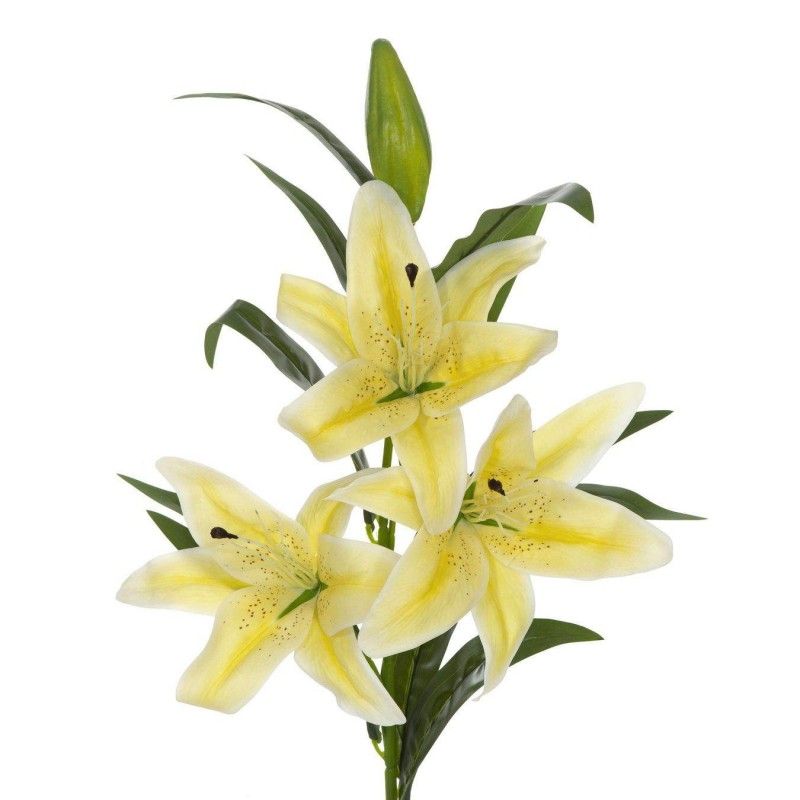 Flor lilium artificial amarillo · Flores artificiales
