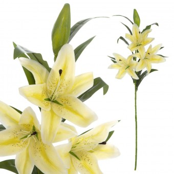 Flor lilium artificial amarillo · Flores artificiales 2