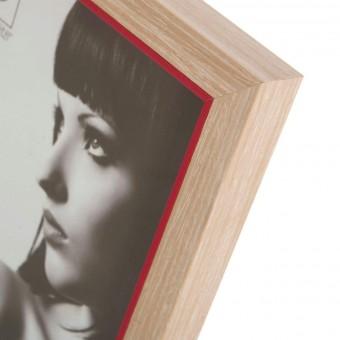 Portafotos nature madera 15x20 rojo · Marcos portafotos 3