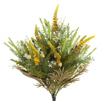 Ramo bush artificial silvestre amarillas · Ramos flores artificiales