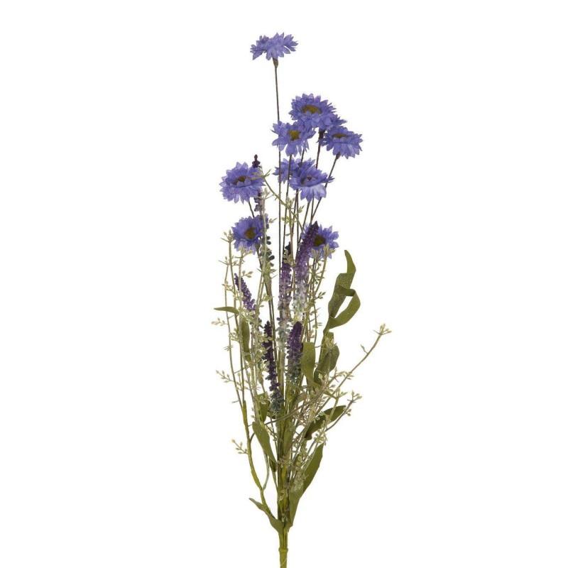 Rama silvestre espliego y crisantemos lila artificial