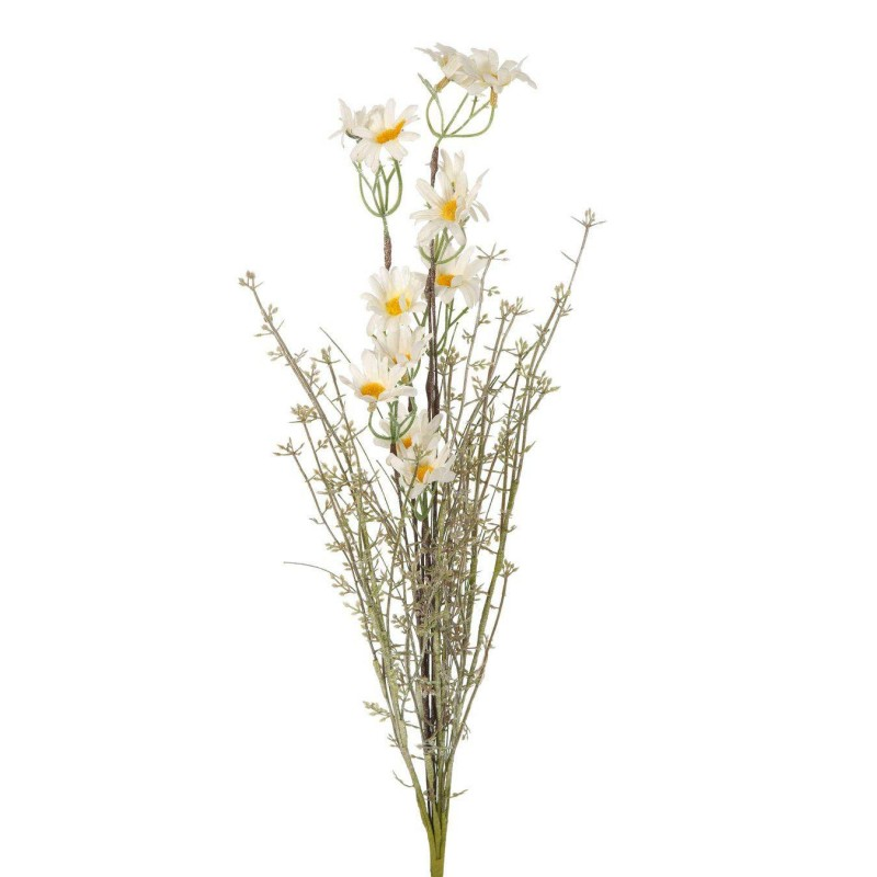 Rama silvestre margaritas artificial blanca · Flores artificiales