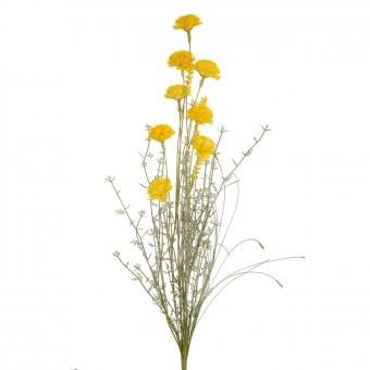 Rama silvestre mun artificial amarilla · Flores artificiales