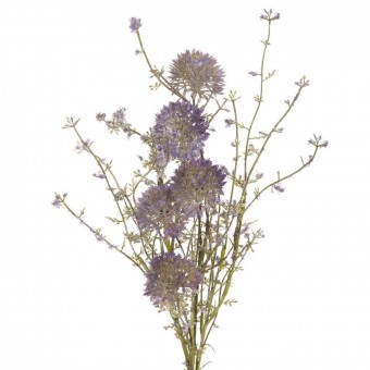 Rama silvestre allium artificial malva · Flores artificiales