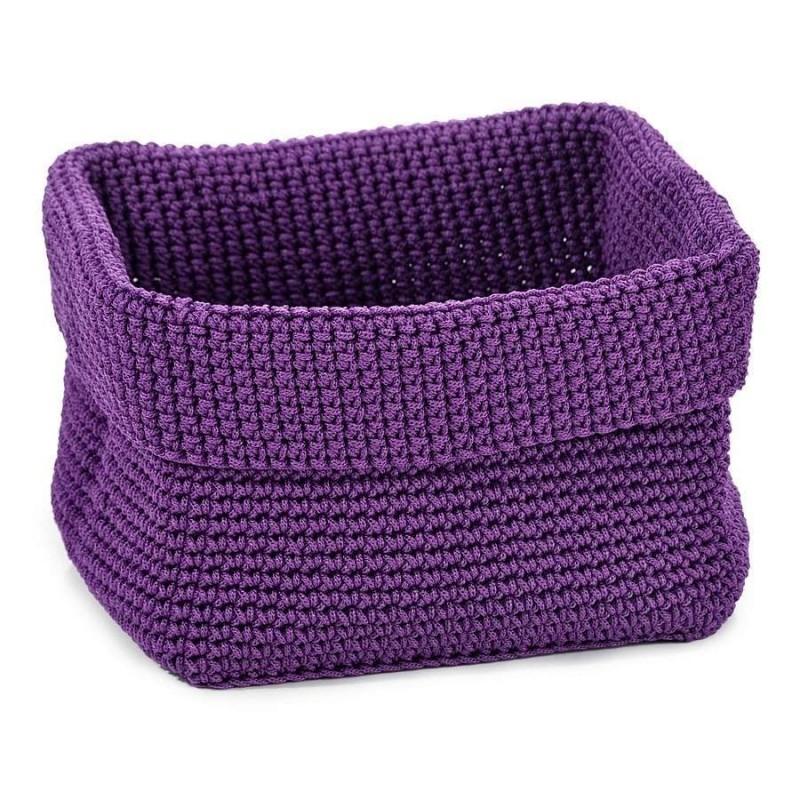 Panera baño saco lila cuadrada grande · Accesorios de baño