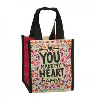 Natural Life bolsa compras mini 'You make my heart happy' reutilizable · Natural Life · La Llimona home