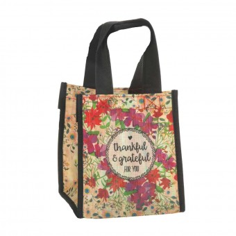 Natural Life bolsa compras mini 'Thankful & grateful for you' reutilizable · Natural Life