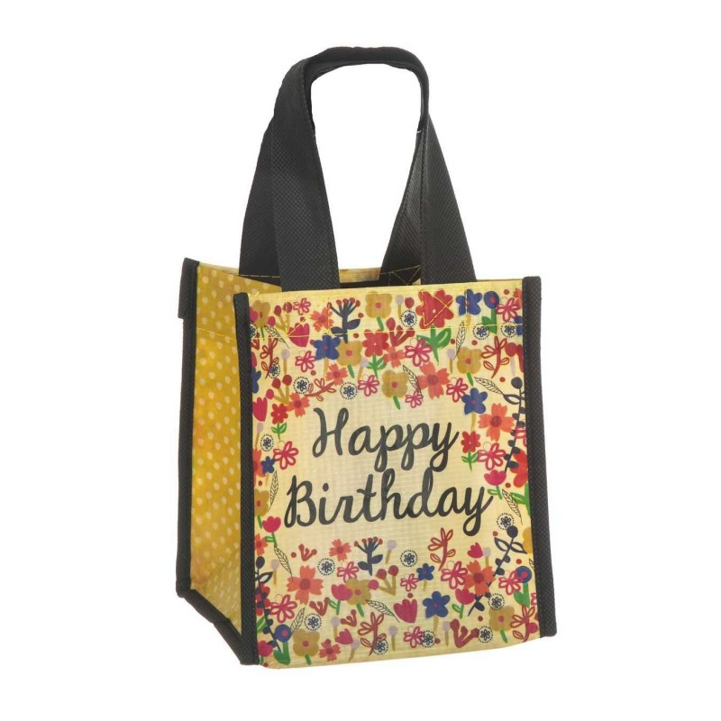 Natural Life bolsa compras mini 'Happy birthday' reutilizable