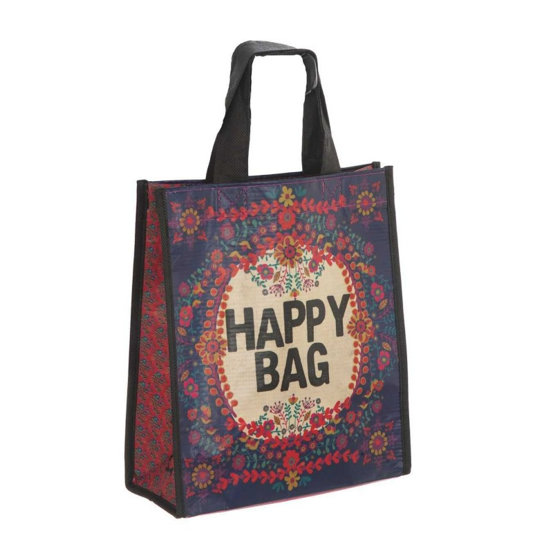 Natural Life bolsa compras mediana 'Happy bag' reutilizable
