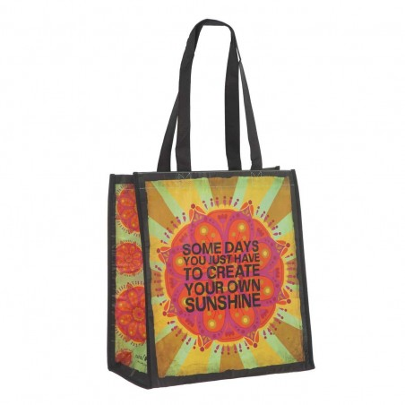 Bolsa Natural Life compras grande 'Some days you just have to create your own sunshine' reutilizable. Alto total: 60...