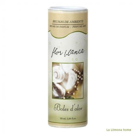 Brumizador - Brumas de ambiente flor blanca de 50 ml. Alto: 12.5 cms.