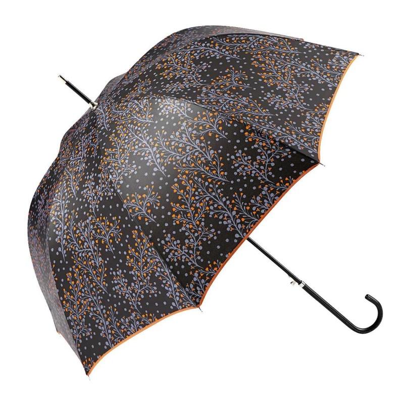 Paraguas Ezpeleta mujer largo automático paisley naranja