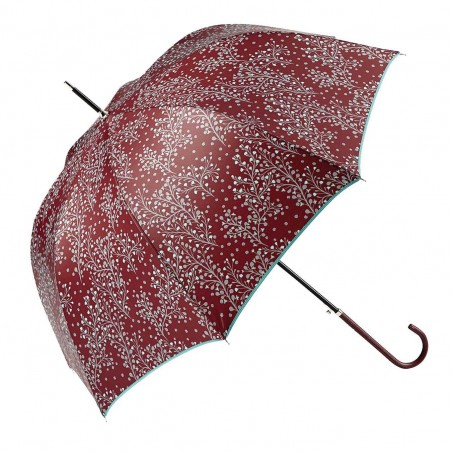 Paraguas Ezpeleta largo automático para mujer paisley turquesa. Alto total 91 cms. Diámetro abierto 96 cms.