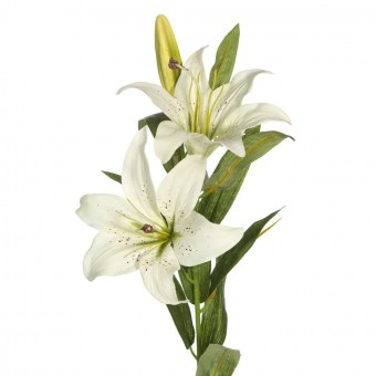 Flor lilium artificial blanco 80 · Flores artificiales · La Llimona home
