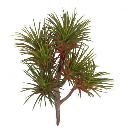 Planta crasa suculenta artificial burdeos. Alto: 20 cms. Diámetro: 11 cms.