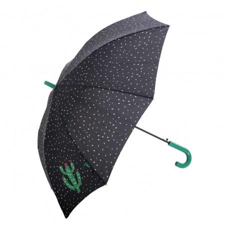 Paraguas Bisetti largo automático mango verde juvenil. Alto: 72 cms.Diámetro abierto: 95 cms.