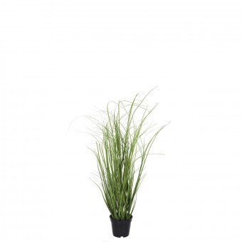 Planta grass artificial verde 51 con maceta · Plantas artificiales