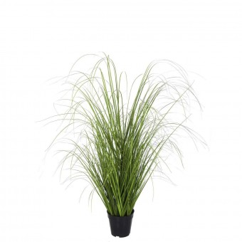 Planta grass artificial verde 95 con maceta · Plantas artificiales