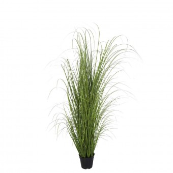 Planta grass artificial verde 130 con maceta · Plantas artificiales