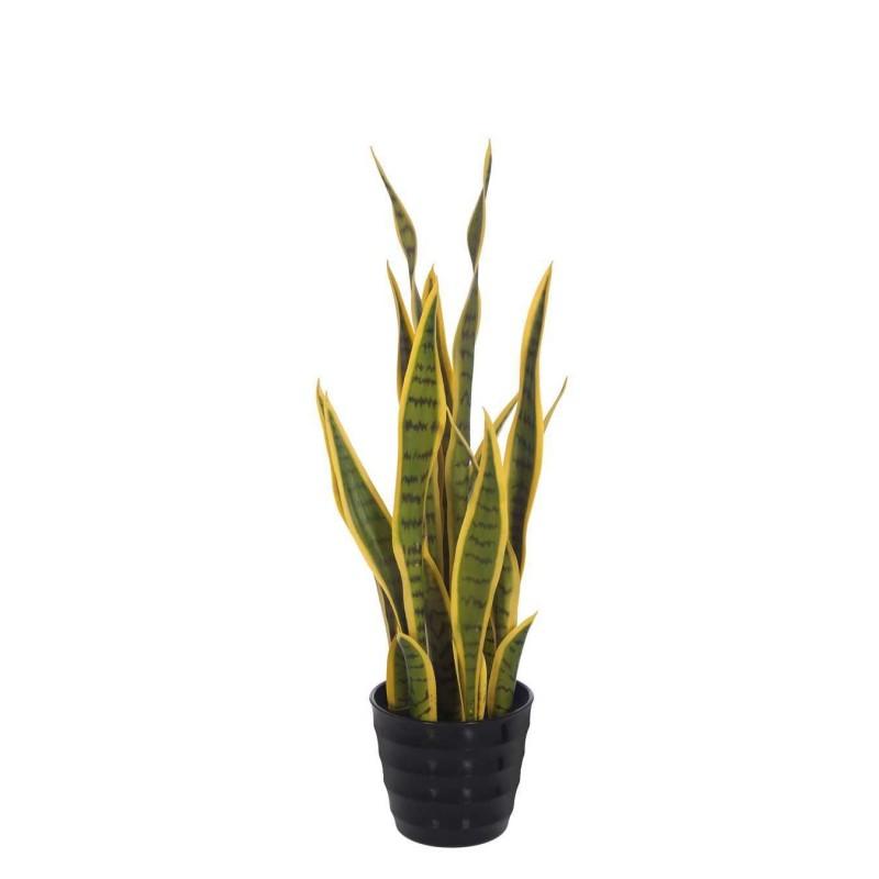 Planta sansevieria artificial variegata 68 con maceta · Plantas artificiales