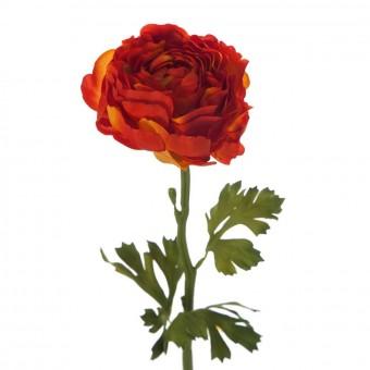 Flor ranúnculo artificial naranja 51 · Flores artificiales 2
