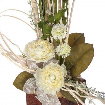 Flor ranúnculo artificial crema 51 · Flores artificiales 5 · La Llimona home