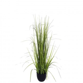 Planta grass artificial verde 87 con maceta · Plantas artificiales