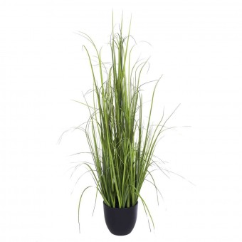 Planta grass artificial verde 111 con maceta