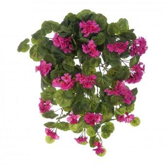 Planta artificial colgante geranios cereza 60 · Plantas colgantes artificiales