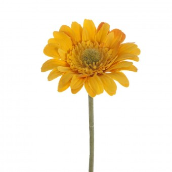 Flor gerbera artificial mini amarilla 30 · Flores artificiales