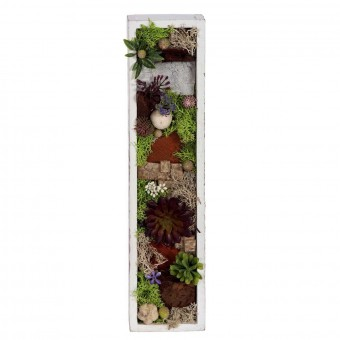 Jardin vertical artificial plantas crasas rectangular 34 · Arreglos florales artificiales 2 · La Llimona home