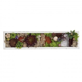 Jardin vertical artificial plantas crasas rectangular 34 · Arreglos florales artificiales
