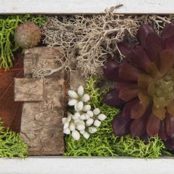 Jardin vertical artificial plantas crasas rectangular 34 · Arreglos florales artificiales 5 · La Llimona home