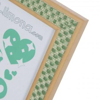 Portafotos pixel madera 20x25 verde · Marcos portafotos 3