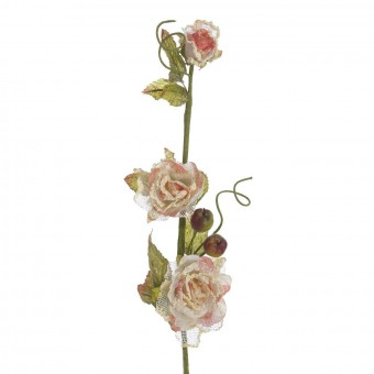Flor rosa artificial salmón 76 · Flores artificiales