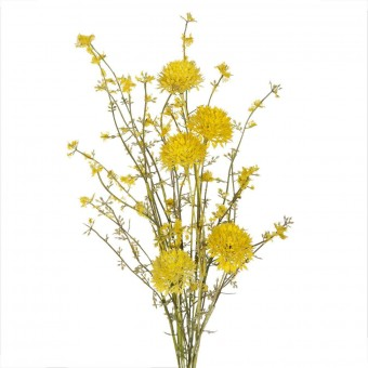 Rama allium artificial amarillo silvestre · Flores artificiales