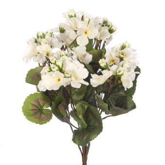 Planta geranio artificial blanco 35 · Plantas artificiales · La Llimona home