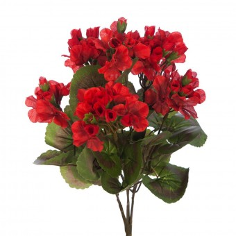 Planta artificial geranio rojo 35 - plantas artificiales con flores