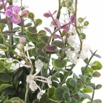 Ramo aucaliptus artificial flor blanca · Ramos flores artificiales 2