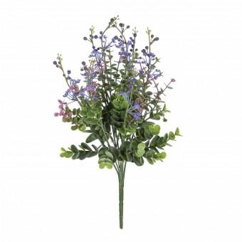 Ramo aucaliptus artificial flor lila · Ramos flores artificiales 3