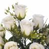 Ramos flores artificiales. Ramo rosas artificiales blancas 44 - Ramos flores artificiales